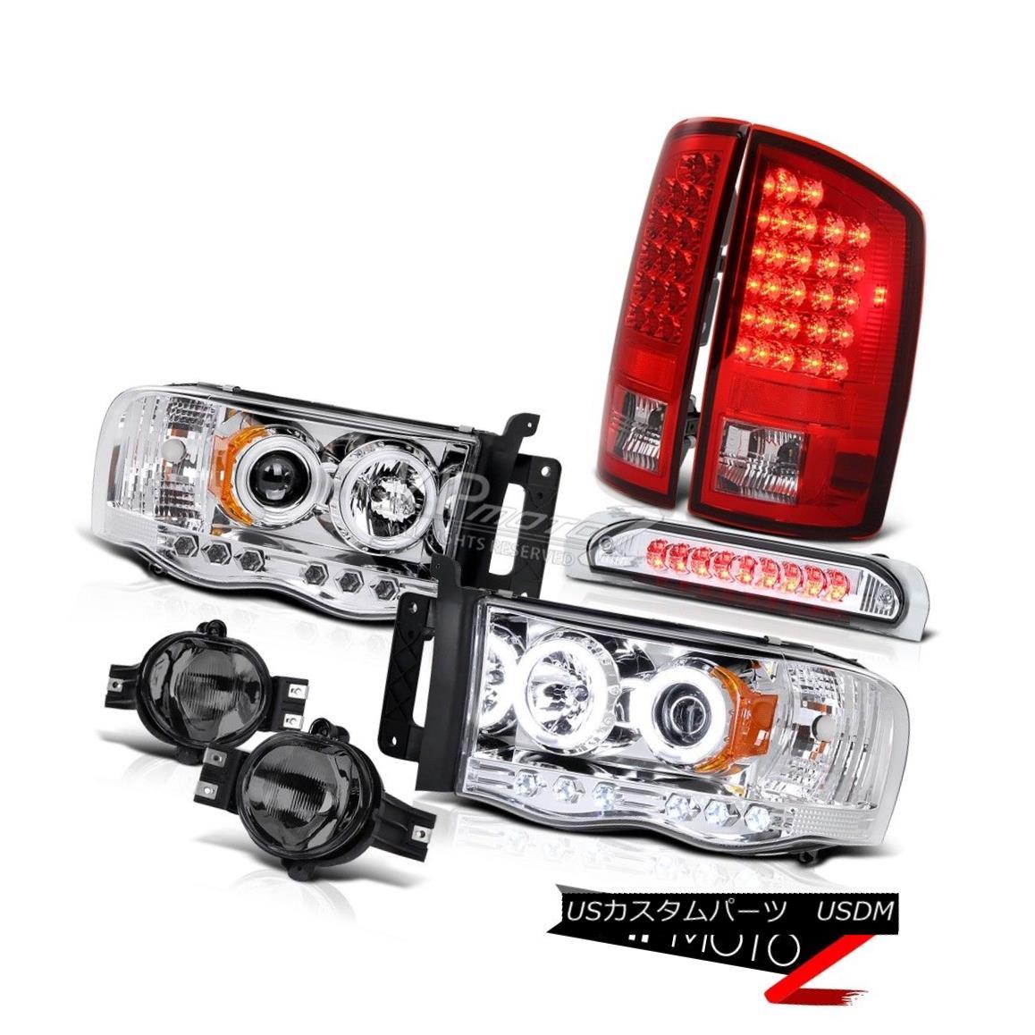 ヘッドライト AWESOME Error Free LED Taillight+Fog+Third Brake+Dual Halo Projector Head Lamps 素晴らしいエラーフリーLEDテールライト+フォグ+ 第3ブレーキ+デュアルヘイロープロジェクターヘッドランプ