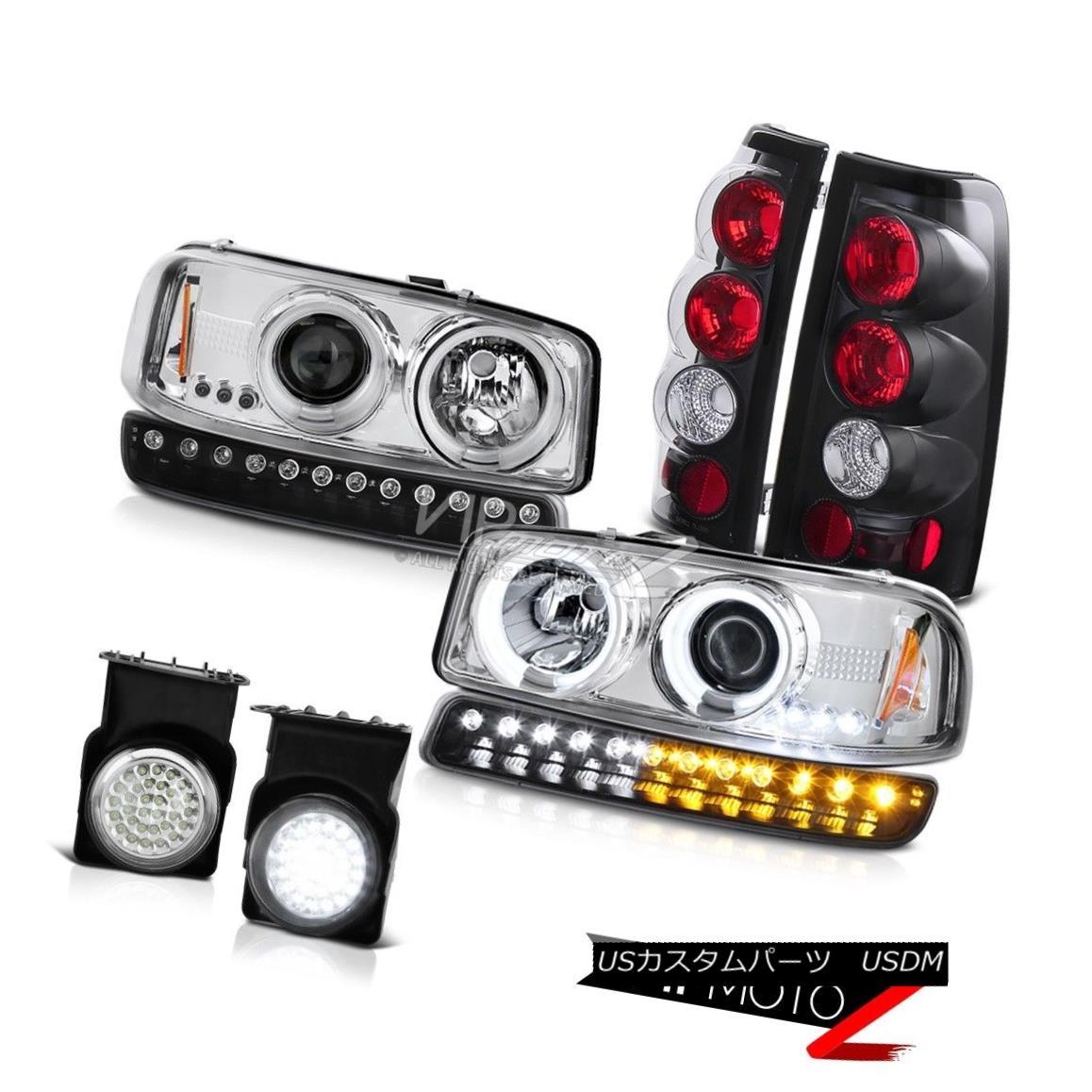ヘッドライト 03-06 Sierra C3 Fog lights raven black parking brake bumper light ccfl Headlamps 03-06シエラC3フォグライバルブラックパーキングブレーキバンパーライトccflヘッドランプ