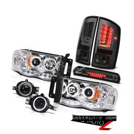ヘッドライト 02-05 Dodge Ram 1500 2500 5.7L Tail Lights Headlamps Fog Roof Cab Lamp Dual Halo 02-05 Dodge Ram 1500 2500 5.7Lテールライトヘッドランプ霧屋根キャブランプデュアルヘイロー