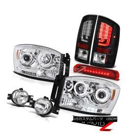 ヘッドライト 07-08 Dodge Ram 1500 WS Tail Lights Headlamps Fog Lamps High STop Lamp Dual Halo 07-08ダッジラム1500 WSテールライトヘッドランプフォグランプハイSTopランプデュアルヘイロー