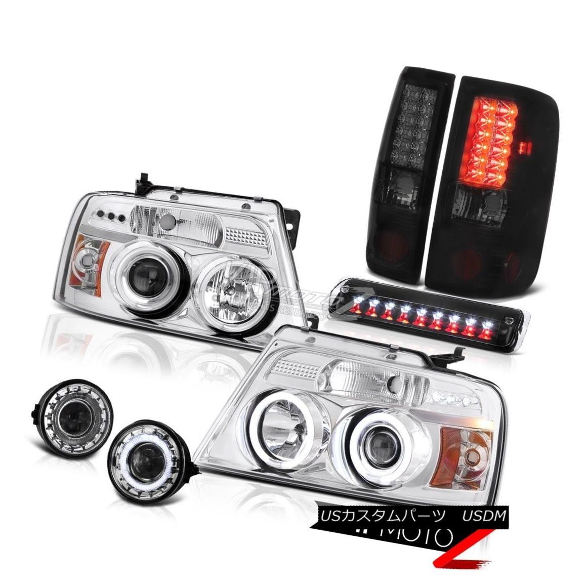 ヘッドライト 06-08 Ford F150 FX4 Fog Lamps Black 3rd Brake Light Headlamps Taillights Newest 06-08フォードF150 FX4フォグランプブラック第3ブレーキライトヘッドランプテールライト最新