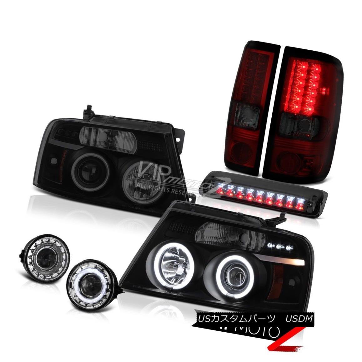 ヘッドライト 06-08 Ford F150 FX4 Fog Lights Roof Cab Light Headlights Tail LED CCFL Rim SMD 06-08 Ford F150 FX4フォグライトルーフキャブライトヘッドライトテールLED CCFLリムSMD