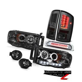 ヘッドライト 02-05 Ram 1500 2500 1500 3.7L Tail Lights Fog Headlamps 3RD Brake Lamp Dual Halo 02-05 Ram 1500 2500 1500 3.7Lテールライトフォグヘッドランプ3RDブレーキランプデュアルヘイロー