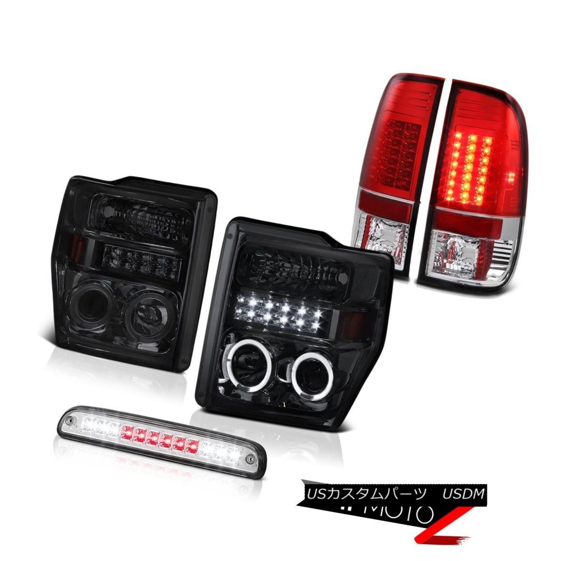 ヘッドライト Smoke DRL Headlights Roof Brake Cargo LED Tail Light 2008 2009 2010 Ford F350 XL スモークDRLヘッドライトルーフブレーキカーゴLEDテールライト2008 2009 2010 Ford F350 XL