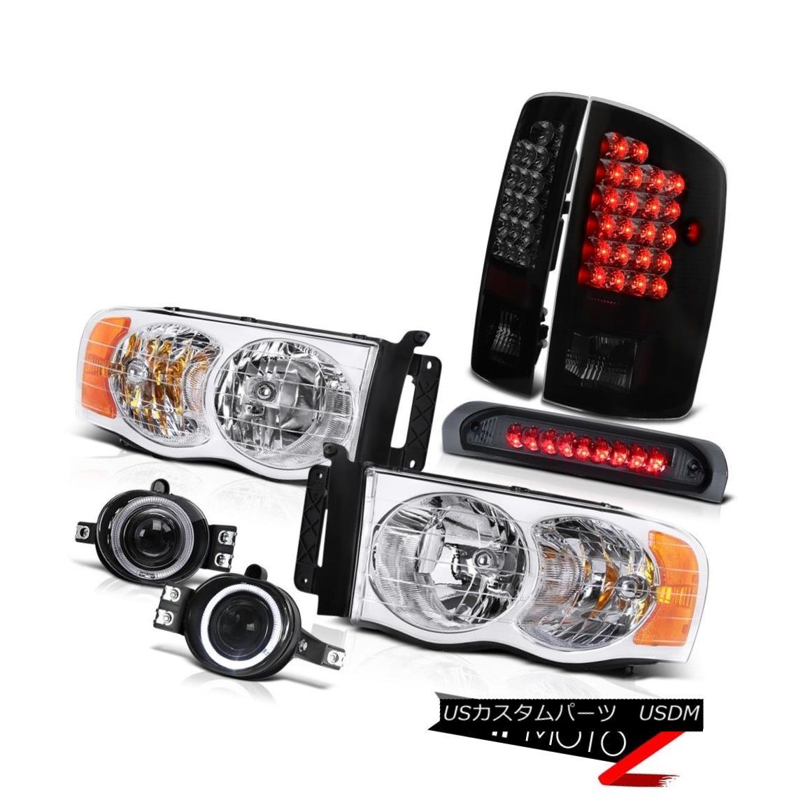 """ヘッドライト """"BEAST MODE"""" 02-05 Ram Halo Headlights+Driving Fog+3rd Brake Light+LED Taillamps """"BEAST MODE"""" 02-05ラムハローヘッドライト+ドライ フォグ+第3ブレーキライト+ LEDタイルランプ"""