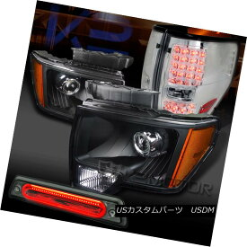 ヘッドライト 09-14 F150 Black Projector Headlights+Chrome LED Tail Lamps+Smoke LED 3rd Brake 09-14 F150ブラックプロジェクターヘッドライト+ Chr ome LEDテールランプ+ Smoke LED 3rdブレーキ