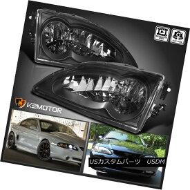 ヘッドライト 1994-1998 Ford Mustang V8 Crystal Black Headlights Left+Right 1994-1998フォードマスタングV8クリスタルブラックヘッドライト左+右