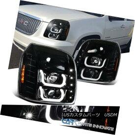 ヘッドライト 07-14 GMC Yukon Denali XL Pearl Black LED Halo Projector Headlights Head Lamps 07-14 GMCユーコンデナリXLパールブラックLEDハロープロジェクターヘッドライトヘッドランプ