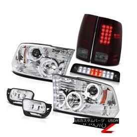 ヘッドライト 2009-2013 Ram 1500 SLT High Stop Lamp Fog Lights Tail Headlights LED Dual Halo 2009-2013 Ram 1500 SLTハイストップランプフォグライトテールヘッドライトLEDデュアルヘイロー