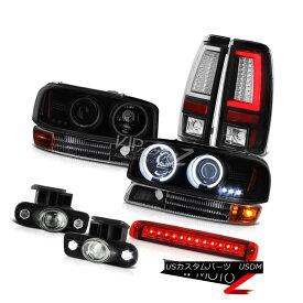 ヘッドライト 99-02 Sierra 6.6L Tail Lamps Roof Cab Lamp Parking Fog CCFL Headlights Dual Halo 99-02シエラ6.6Lテールランプルーフキャブランプ駐車霧CCFLヘッドライトデュアルヘイロー