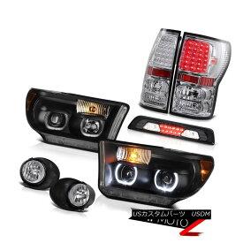ヘッドライト 07-13 Toyota Tundra SR5 Headlamps Fog Lights Roof Cab Lamp Tail Dual Halo SMD 07-13 Toyota Tundra SR5ヘッドライトフォグライトルーフキャブランプテールデュアルヘロSMD