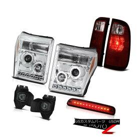 ヘッドライト 11-16 F350 Lariat Wine Red 3RD Brake Lamp Foglights Taillights Chrome Headlights 11-16 F350ラリアートワインレッド3RDブレーキランプフォグライトテールライトクロームヘッドライト