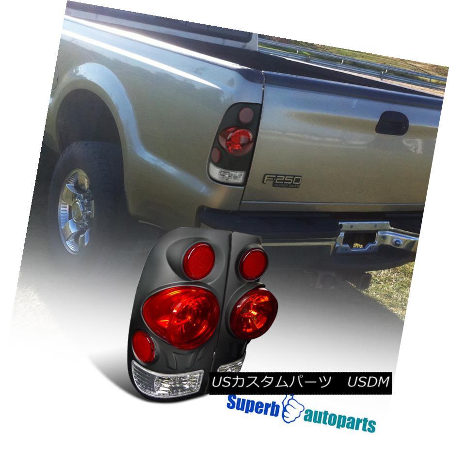 テールライト 1997-2003 Ford F150 Style Side 3D Retro Style Tail Lights Rear Brake Lamps Black 1997-2003フォードF150スタイルサイド3Dレトロスタイルテールライトリアブレーキランプブラック