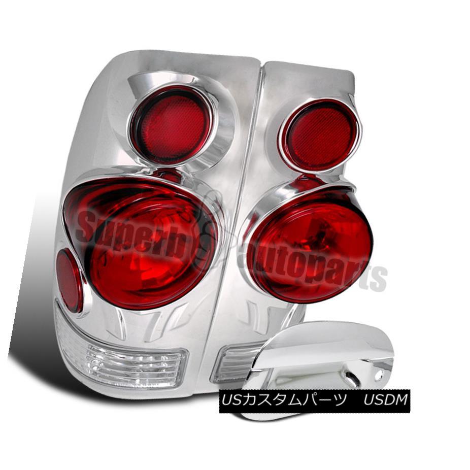 テールライト 1997-2003 Ford F150 Style Side 3D Retro Tail Lights+ABS Door Handle Cover Chrome 1997-2003 Ford F150スタイルサイド3Dレトロテールライト+ ABSドアハンドルカバークローム