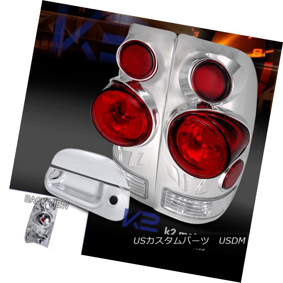 テールライト Chrome 97-03 Ford F150 Styleside 3D Design Tail Light+Tailgate Handle Cover Chrome 97-03 Ford F150 Styleside 3Dデザインテールライト+テールゲートハンドルカバー