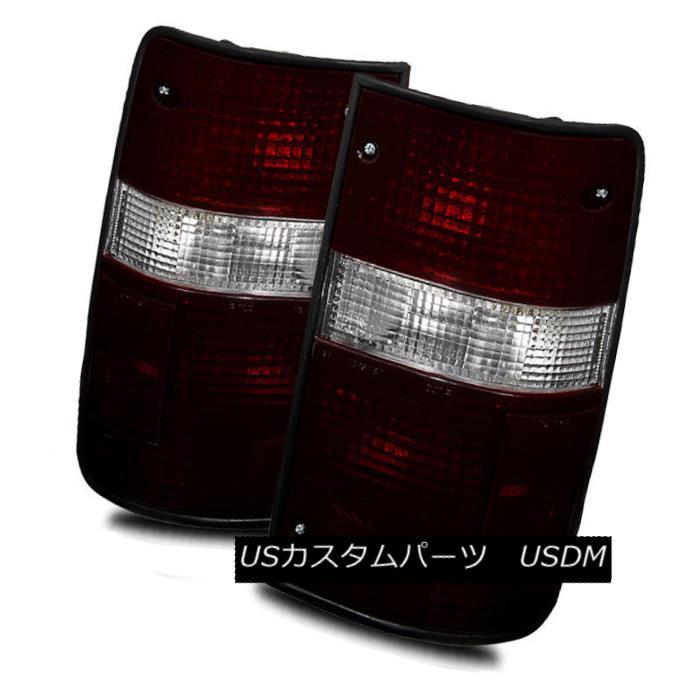 テールライト For 89-95 Toyota Pickup 2WD/4WD Dark Red/Clear LH/RH Tail Lights Rear Brake Lamp 89-95用トヨタピックアップ2WD / 4WDダークレッド/クリアLH / RHテールライトリアブレーキランプ