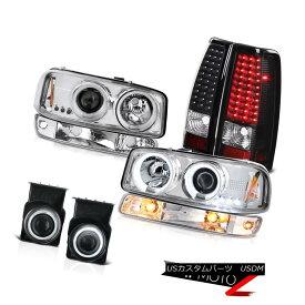 テールライト 2003-2006 Sierra SLT Fog lights tail parking lamp ccfl Headlamps LED Dual Halo 2003-2006シエラSLTフォグライトテールパーキングランプccflヘッドランプLEDデュアルヘイロー
