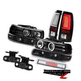 テールライト 99-02 Silverado LT Tail Lights Roof Cab Lamp Fog Signal Headlamps LED Dual Halo 99-02 Silverado LTテールライトルーフキャブランプフォグシグナルヘッドランプLEDデュアルヘイロー