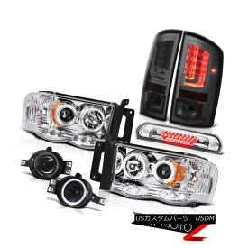 テールライト 02-05 Dodge Ram 1500 1500 3.7L Tail Lamps Headlamps Fog High STop Lamp Dual Halo 02-05 Dodge Ram 1500 1500 3.7LテールランプヘッドランプフォグハイSTopランプデュアルヘイロー