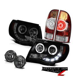 テールライト 05-11 Tacoma TRD Sport Headlamps fog lamps bloody red tail lights LED Dual Halo 05-11タコマTRDスポーツヘッドランプ霧ランプの赤いテールランプのLEDデュアルヘイロー