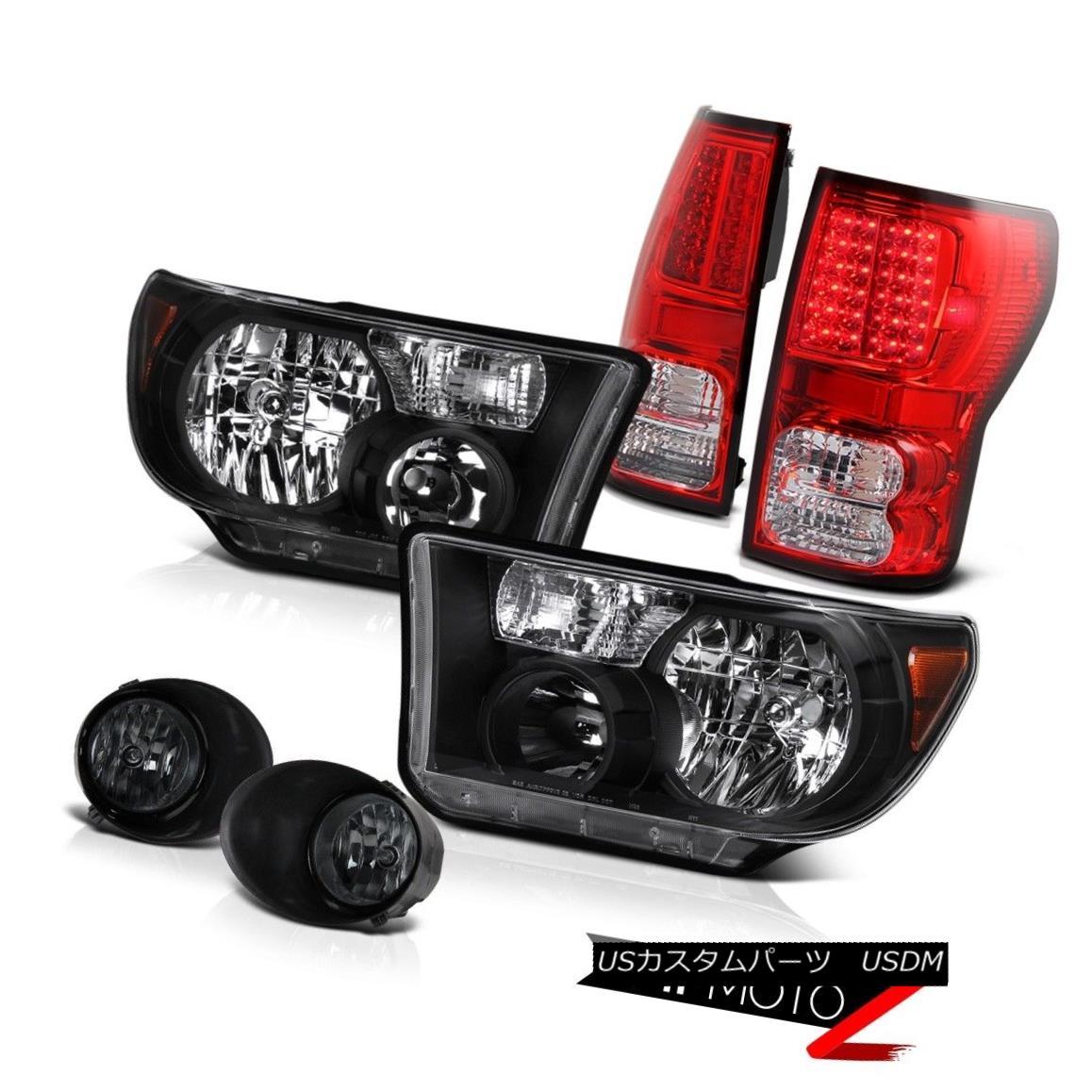 テールライト L+R Black Diamond Headlight+Led Tail Light+Fog Lamp Assembly Tundra 07-13 L + Rブラックダイヤモンドヘッドライト+ Ledテールライト+ FogランプアセンブリTundra 07-13
