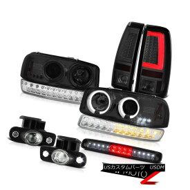 テールライト 1999-2002 Sierra SLt Tail Lights Roof Cab Lamp Fog Parking Headlamps Dual Halo 1999-2002 Sierra SLtテールランプルーフキャブ・ランプフォグ・パーキング・ヘッドランプデュアル・ヘイロー