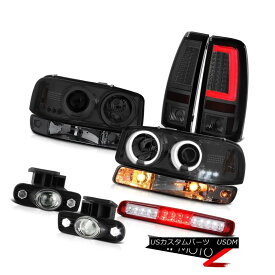 テールライト 99-02 Sierra 6.0L Tail Lamps Roof Cab Lamp Signal Fog CCFL Headlights Dual Halo 99-02 Sierra 6.0Lテールランプルーフキャブランプ信号フォグCCFLヘッドライトデュアルヘイロー