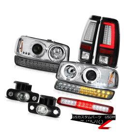 テールライト 99-02 Sierra 4.3L Black Tail Lamps Roof Cab Lamp Fog Bumper Headlights Dual Halo 99-02シエラ4.3Lブラックテールランプルーフキャブランプフォグバンパーヘッドライトデュアルヘイロー