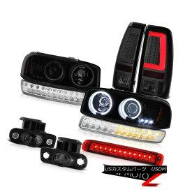 テールライト 99-02 Sierra SL Taillamps High Stop Lamp Fog Lights Signal Headlights Dual Halo 99-02 Sierra SL Taillampsハイストップランプフォグライト信号ヘッドライトデュアルヘイロー