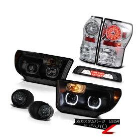 テールライト 07-13 Toyota Tundra SR5 Headlamps Fog Lamps Roof Brake Lamp Rear Lamps Dual Halo 07-13トヨタトンドラSR5ヘッドライトフォグランプ屋根ブレーキランプリアランプデュアルヘイロー