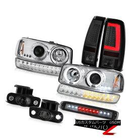 テールライト 99-02 Sierra SLE Taillights 3RD Brake Lamp Fog Lamps Bumper Headlamps Dual Halo 99-02 Sierra SLEテイルライト3RDブレーキランプフォグランプバンパーヘッドランプデュアルヘイロー