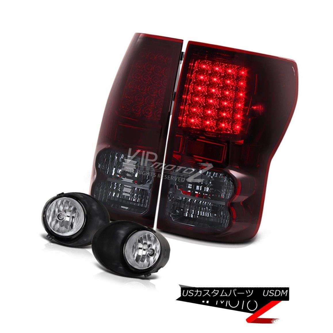 テールライト SMOKEY/RED Led Tail Light Brake Lamp+Crystal Fog Light+Switch Tundra 07-2013 SMOKEY / REDテールライトブレーキランプ+クリスタルフォグライト+スイッチトンドラ07-2013