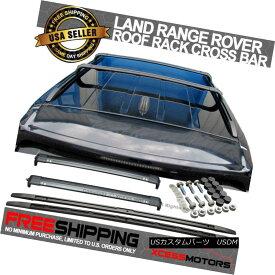 エアロパーツ Fits 05-13 Land Rover Range Rover SPORT Black Roof Rails & Cross Bars Set フィット05-13ランドローバーレンジローバースポーツブラックルーフレール& クロスバーセット