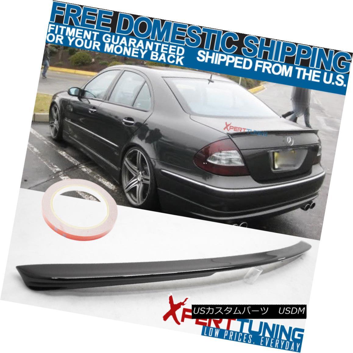 エアロパーツ FIT For 03-09 Benz E-Class W211 AMG Trunk Spoiler Painted Obsidian Black #197 FIT for 03-09ベンツEクラスW211 AMGトランク・スポイラー・ペイント・オブシディアン・ブラック#197