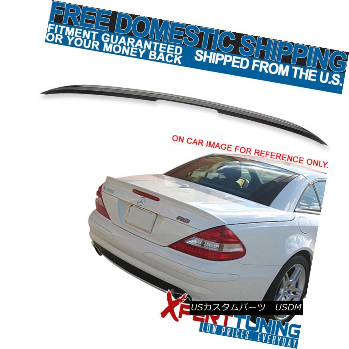 エアロパーツ 03-11 Benz SL-Class 2D 2Dr R230 AMG Style Painted # 197 Trunk Spoiler - ABS 03-11ベンツSLクラス2D 2Dr R230 AMGスタイルペイント#197トランクスポイラー - ABS