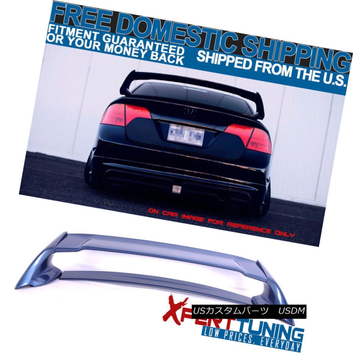 エアロパーツ Fit For 06-11 Honda Civic 4Dr Mugen ABS Trunk Spoiler Painted Atomic Blue Metall ホンダシビック4Dr Mugen ABSトランク・スポイラー、アトミック・ブルー・メタルを塗装