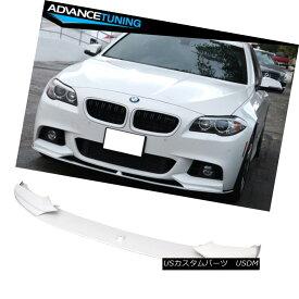 エアロパーツ Fit 11-16 BMW F10 Performance Front Lip OEM Painted Alpine White III #300 フィット11-16 BMW F10パフォーマンスフロントリップOEM塗装アルパインホワイトIII#300