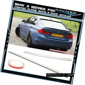 エアロパーツ 12-18 BMW 3 Series F30 AC Roof Spoiler OEM Painted Color Alpine White III #300 12-18 BMW 3シリーズF30 ACルーフスポイラーOEM塗装カラーアルパインホワイトIII#300