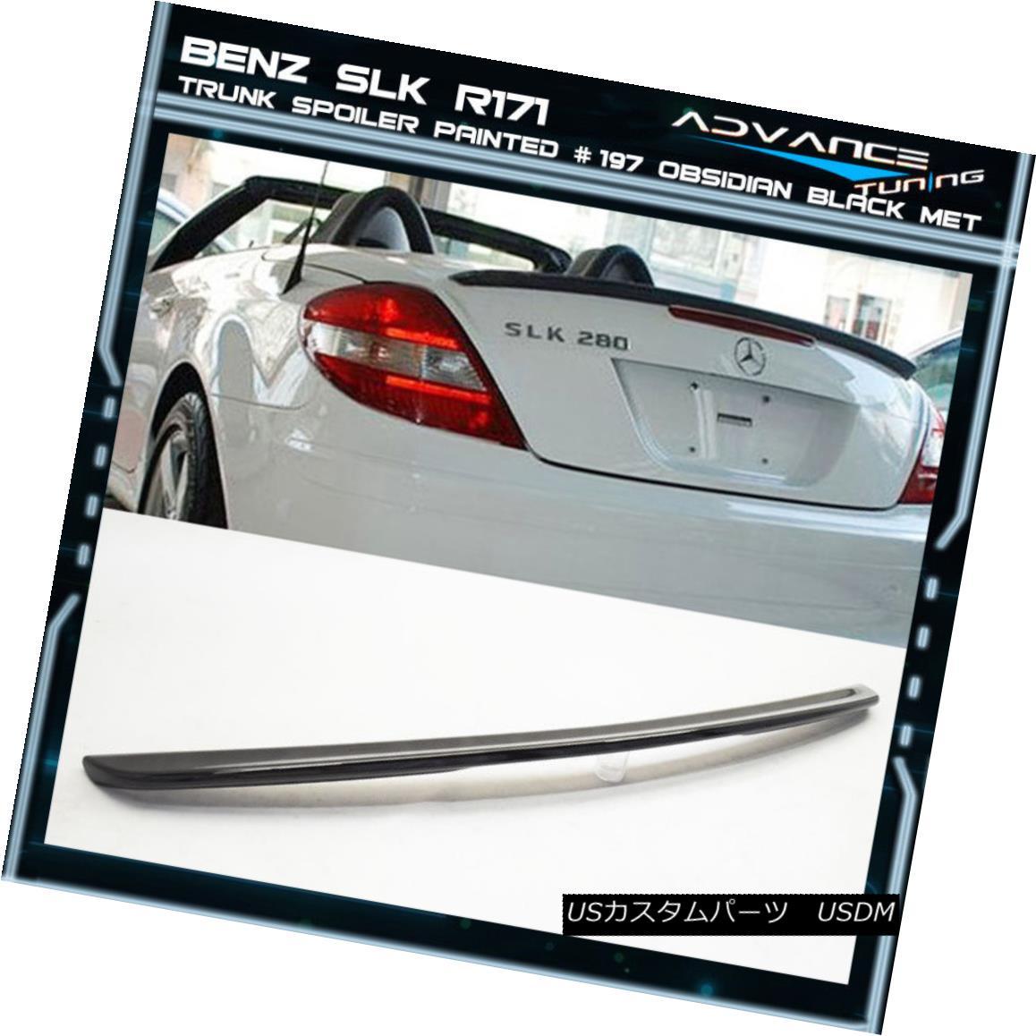 エアロパーツ 05-10 Benz SLK R171 Trunk Spoiler OEM Painted Color # 197 Obsidian Black Met 05-10ベンツSLK R171トランク・スポイラーOEM塗装カラー#197 Obsidian Black Met