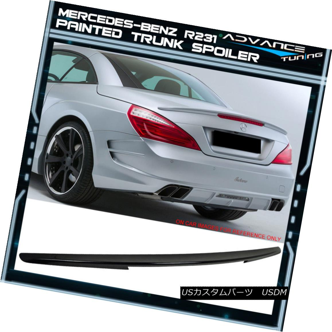 エアロパーツ 13-16 Benz R231 Trunk Spoiler OEM Painted Color #197 Obsidian Black Metallic 13-16ベンツR231トランク・スポイラーOEM塗装カラー#197黒曜石黒メタリック
