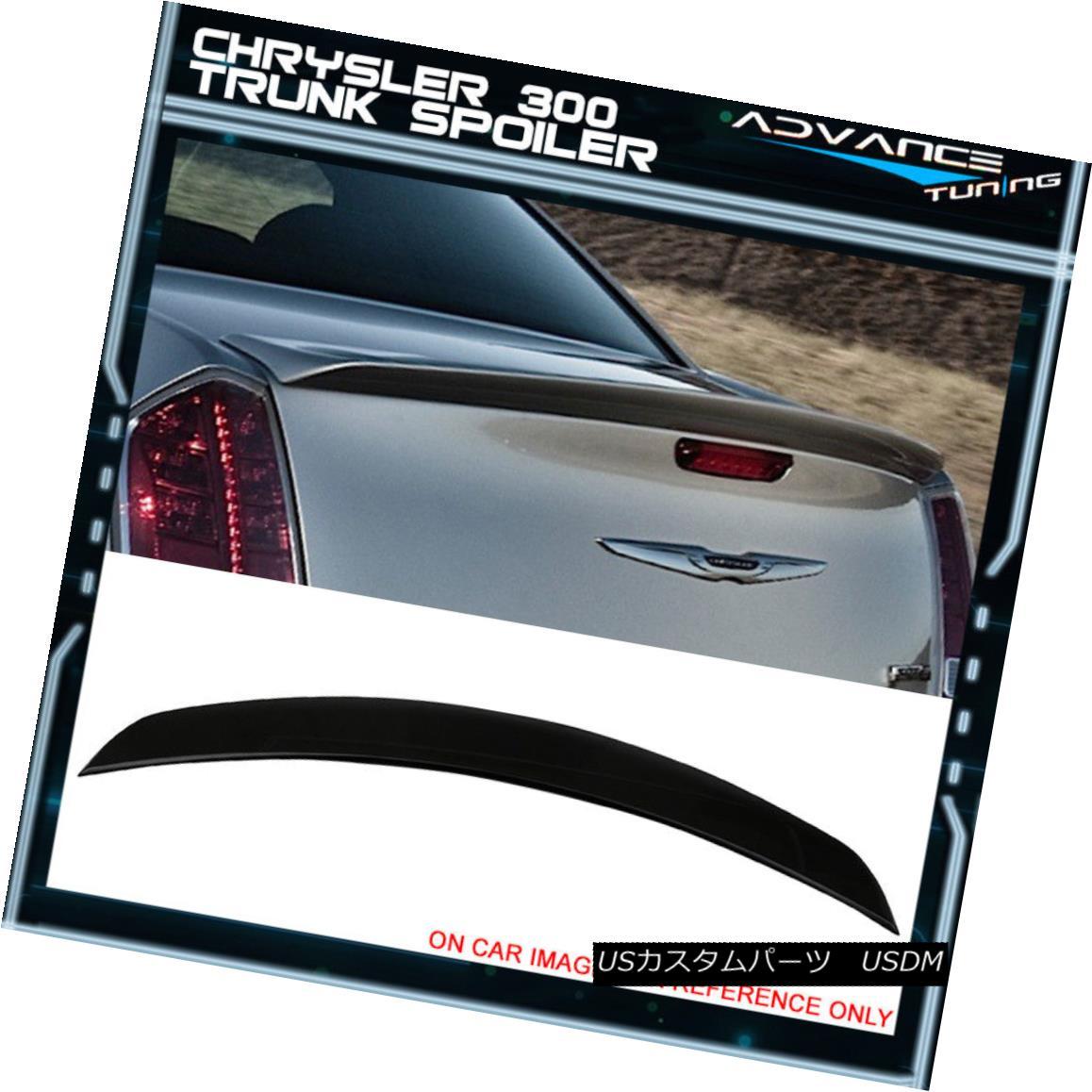 エアロパーツ Fits 11-18 Chrysler 300 300C 300S SRT SRT8 ABS Trunk Spoiler Painted #PX8 Black フィット11-18クライスラー300 300C 300S SRT SRT8 ABSトランクスポイラー#PX8黒塗装