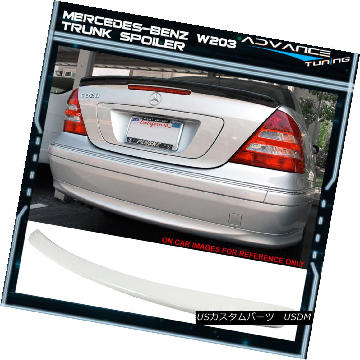エアロパーツ 01-07 Benz W203 C-Class AMG Style Painted #960 Alabaster White Trunk Spoiler 01-07ベンツW203 CクラスAMGスタイル塗装済み#960アラバスターホワイトトランクスポイラー