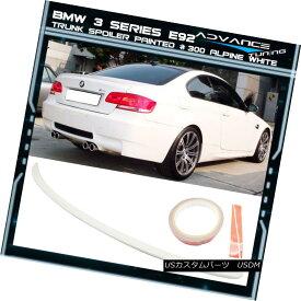エアロパーツ 07-13 BMW 3 Series E92 Trunk Spoiler OEM Painted Color # 300 Alpine White 07-13 BMW 3シリーズE92トランク・スポイラーOEM塗装カラー#300アルパイン・ホワイト