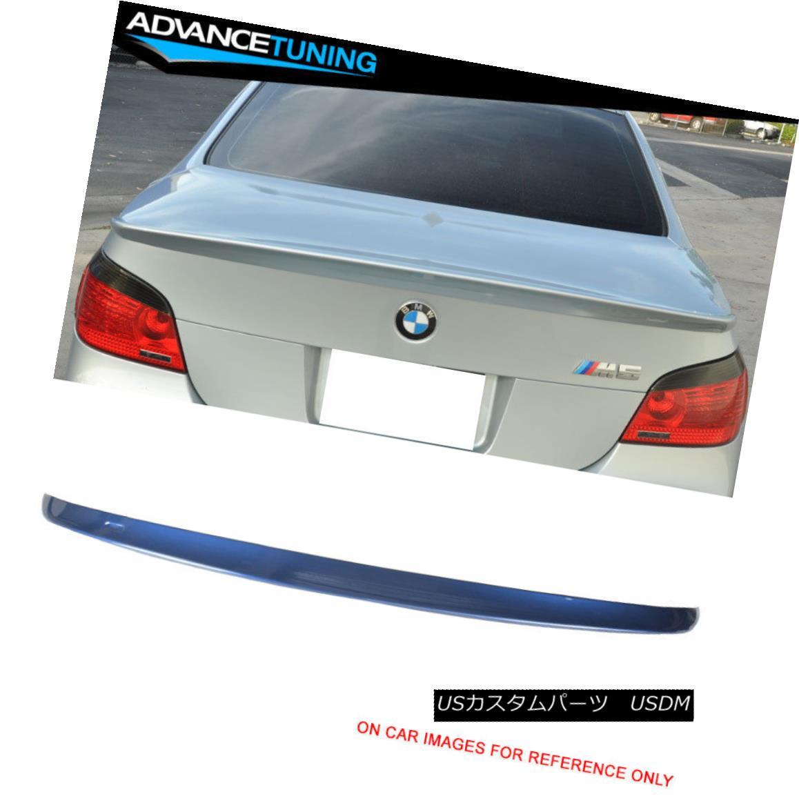 エアロパーツ Fits 04-10 E60 5-Series Trunk Spoiler OEM Painted #A07 Mystic Blue Metallic フィット04-10 E60 5シリーズトランク・スポイラーOEM塗装#A07ミスティック・ブルー・メタリック