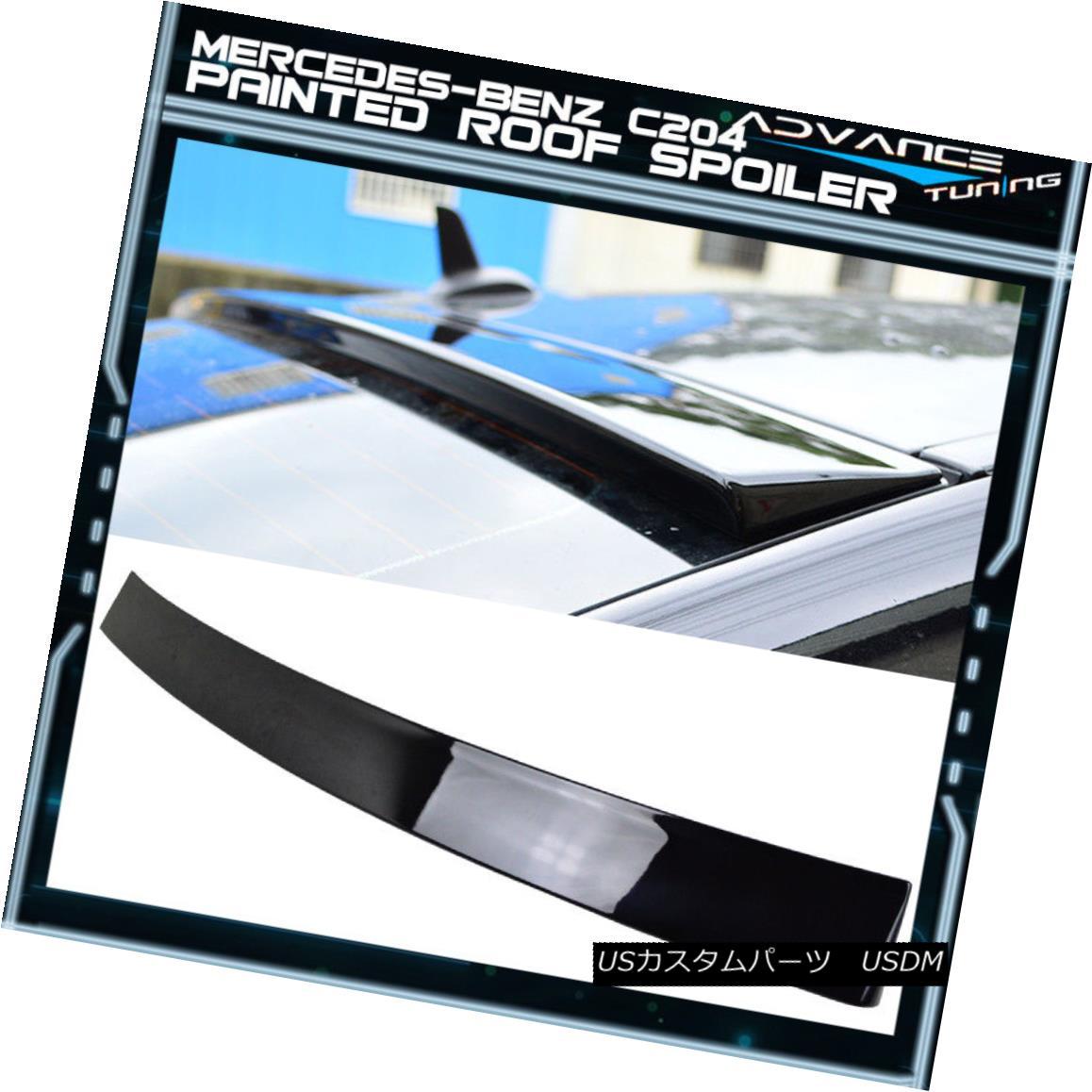 エアロパーツ 12-15 Benz C204 W204 Coupe Roof Spoiler OEM Painted #197 Obsidian Black Metallic 12-15ベンツC204 W204クーペルーフスポイラーOEM塗装#197黒曜石黒メタリック