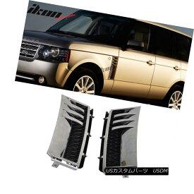 エアロパーツ Fits 03-12 Land Rover Range Rover L322 Side Vent Chrome Silver Black フィット03-12ランドローバーレンジローバーL322サイドベントクロームシルバーブラック