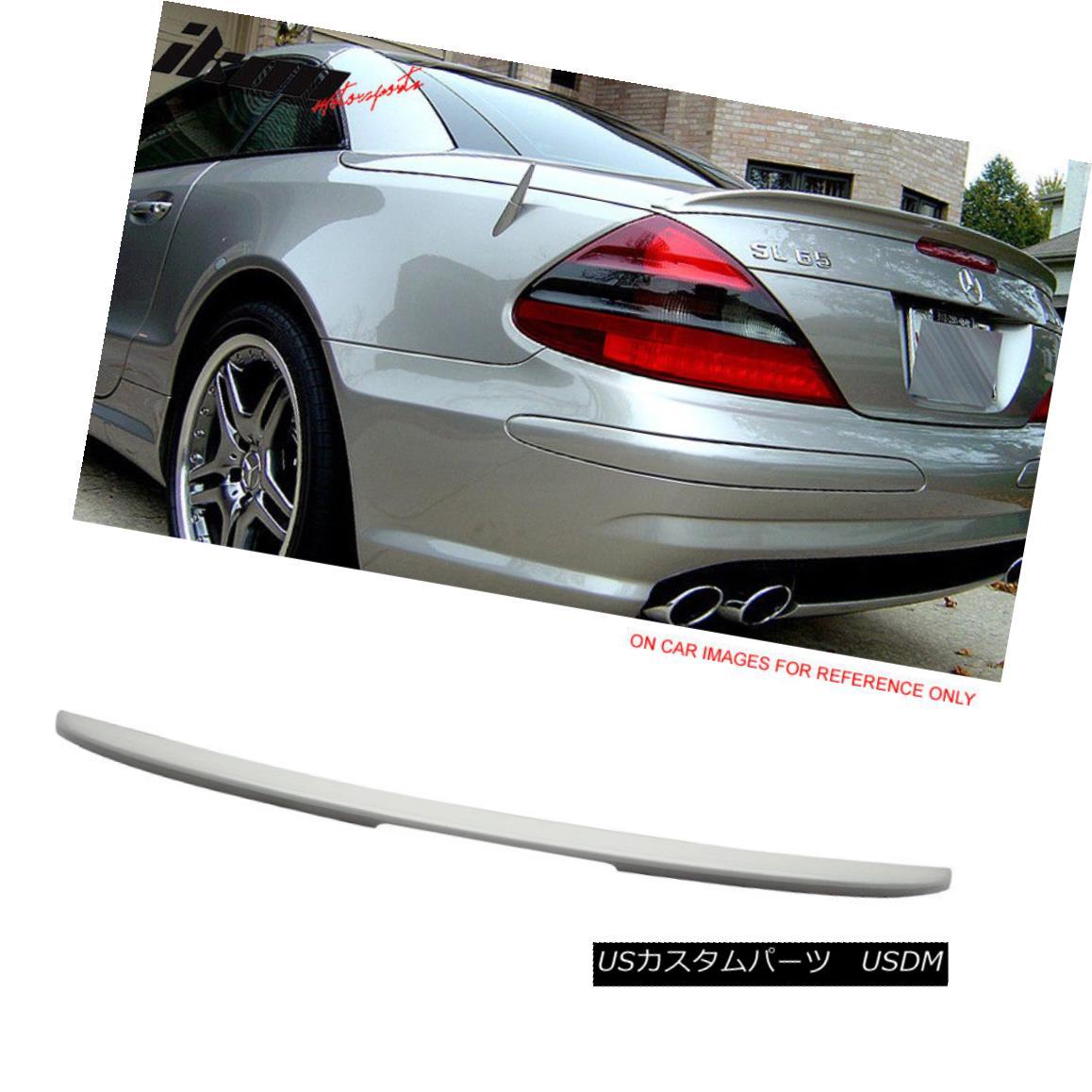 エアロパーツ Fits 03-11 Benz SL-Class R230 AMG Trunk Spoiler Painted Alabaster White #960 フィット03-11ベンツSLクラスR230 AMGトランクスポイラー塗装アラバスターホワイト#960