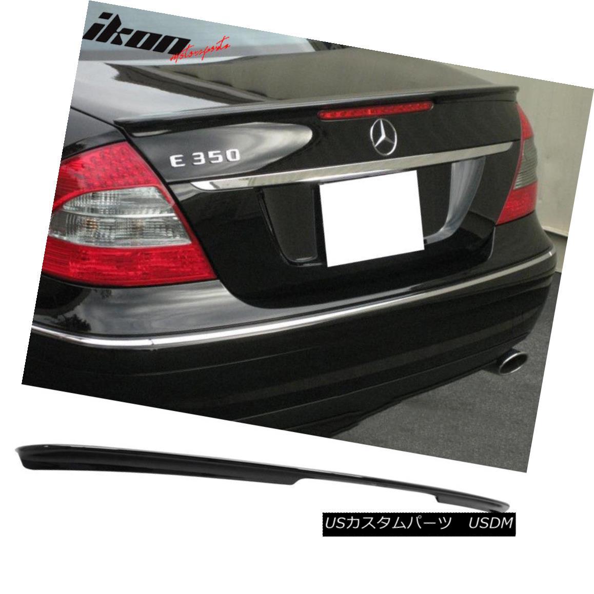 エアロパーツ Fits 03-09 Benz E-Class W211 Sedan AMG Trunk Spoiler Painted Obsidian Black #197 フィット03-09ベンツEクラスW211セダンAMGトランクスポイラーペイントオブシディアンブラック#197