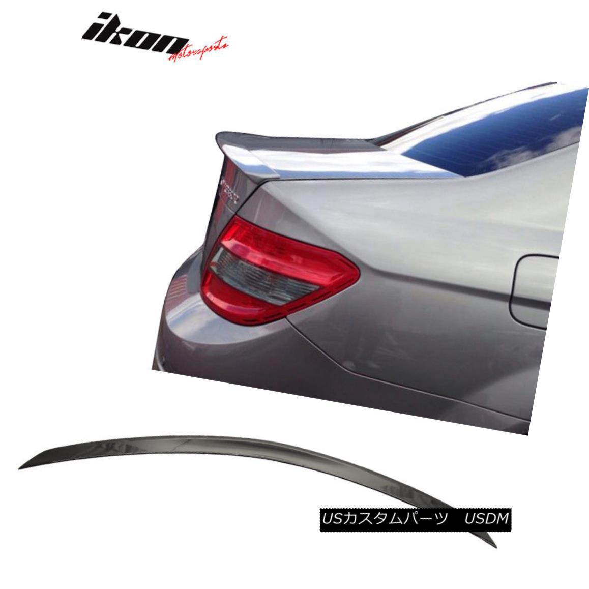 エアロパーツ Fits 08-14 Benz C Class W204 Sedan AMG Trunk Spoiler Painted #197 Obsidian Black フィット08-14ベンツCクラスW204セダンAMGトランク・スポイラー・ペイント#197黒曜石