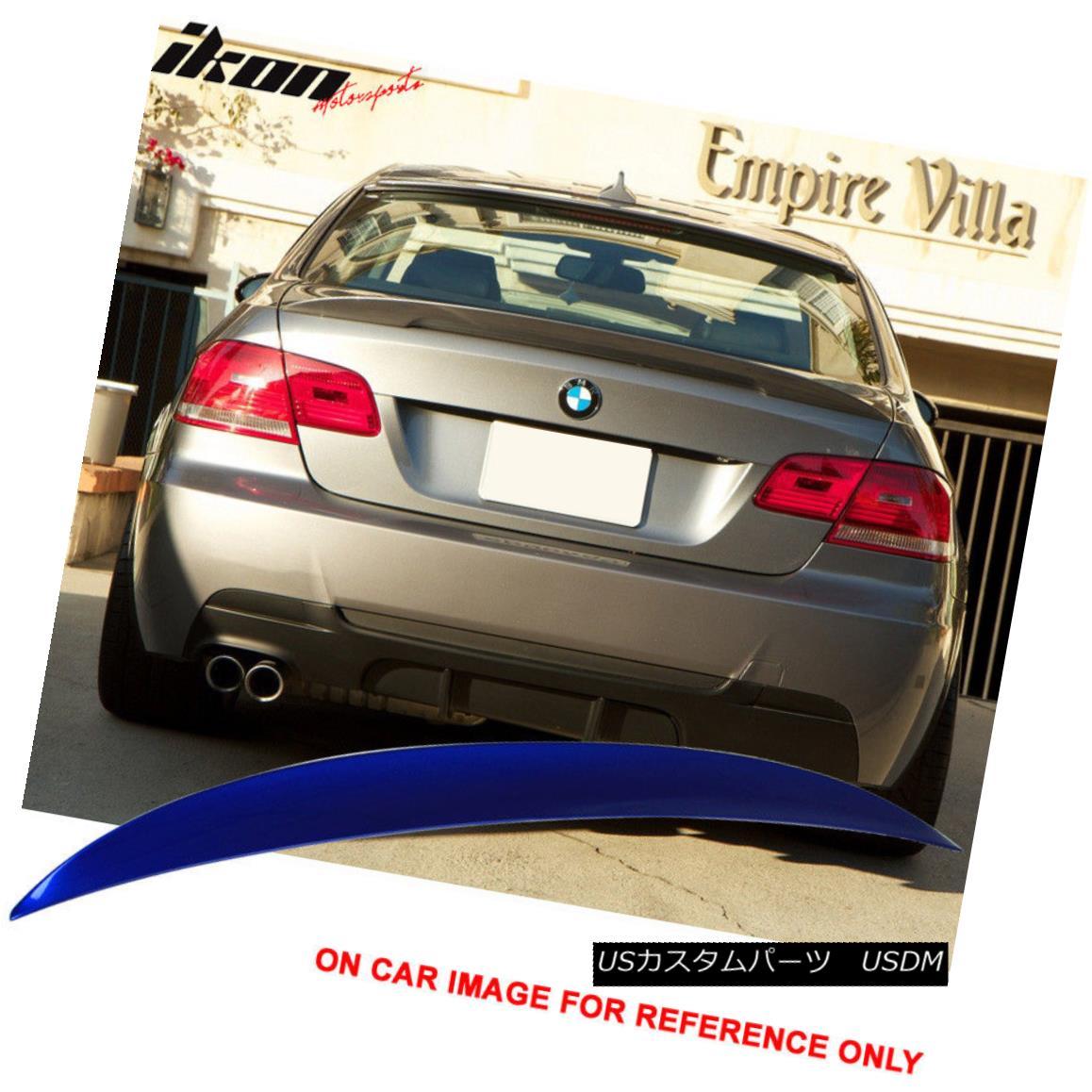 エアロパーツ Fit 07-13 BMW E92 2Dr High Kick Trunk Spoiler Painted Montego Blue Metallic #A51 フィット07-13 BMW E92 2Drハイキックトランクスポイラーペイントモンテゴブルーメタリック#A51